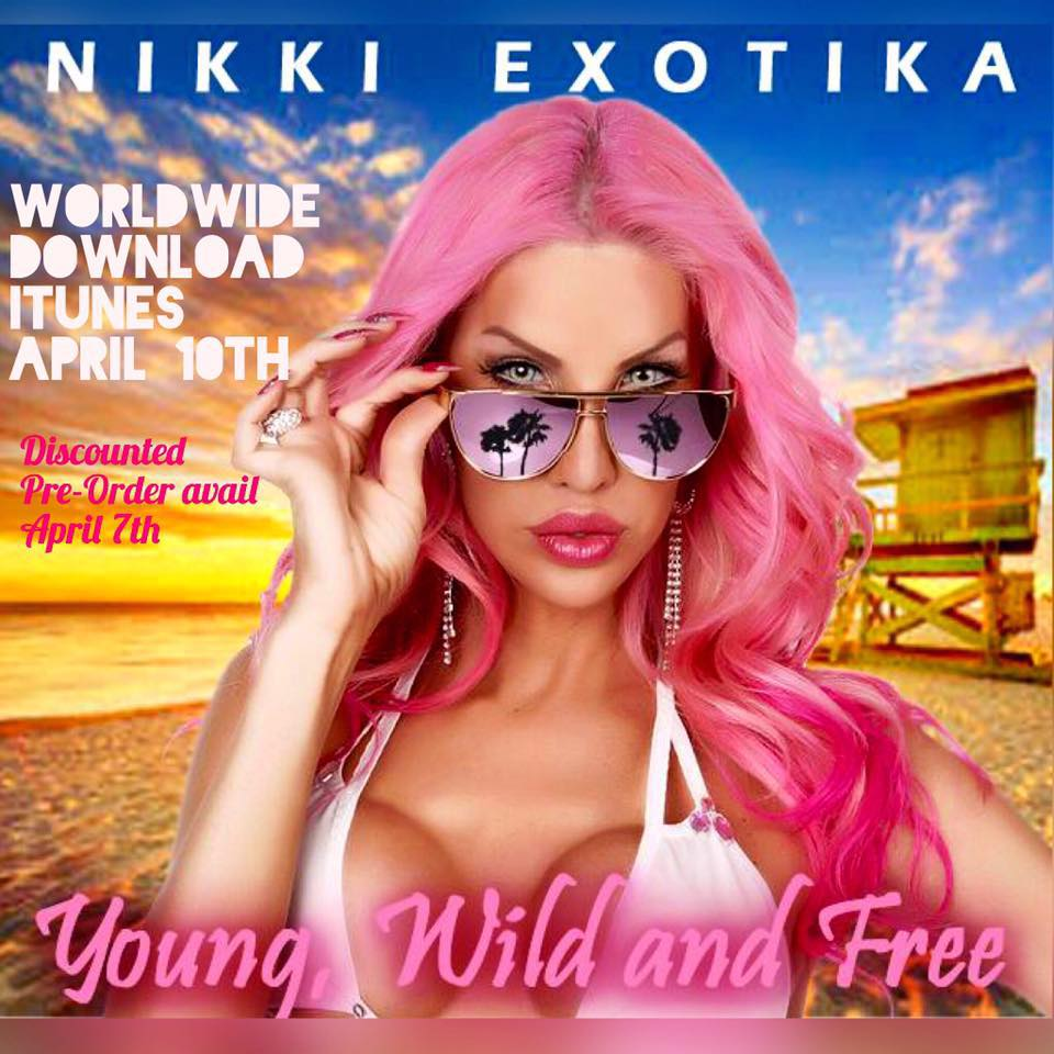 nikki exotica young wild and free album art