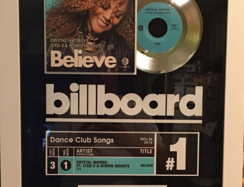 "418 Music Scores 3rd No.1 on Billboard Charts With ""Believe"" By Crystal Waters, Sted-E & Hybrid Heights"